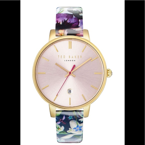 f00c442f636 Ted Baker Kate round leather strap watch